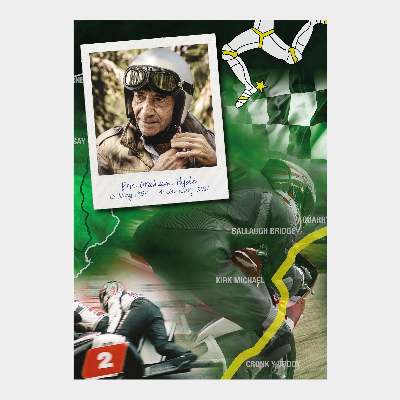 Road Racing Memorial booklet. Isle of Man TT funeral order of service. order of service motorbike, motorcycle, biker.