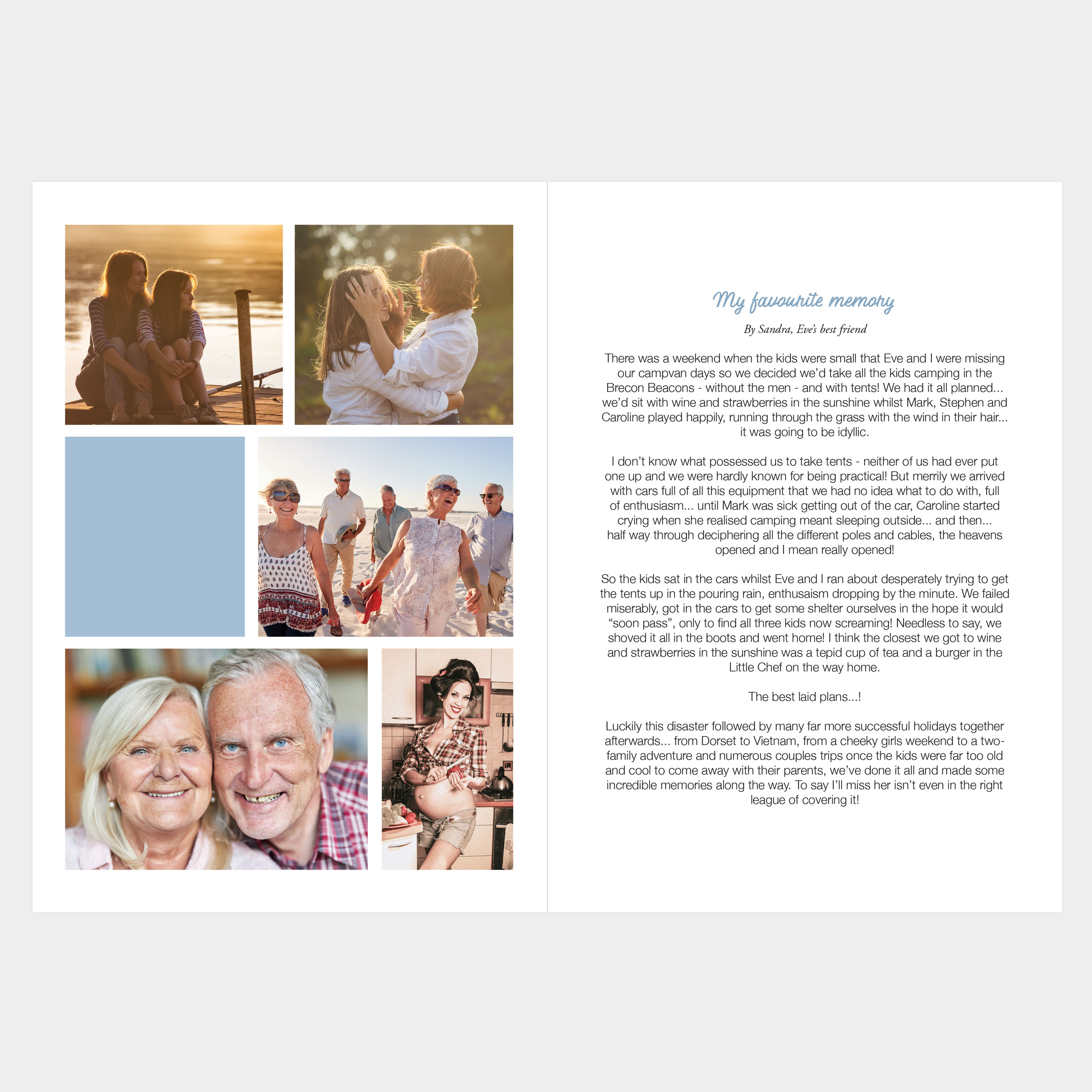 Beautiful tribute book, memorial keepsake, covid funeral restrictions, send to absent friends