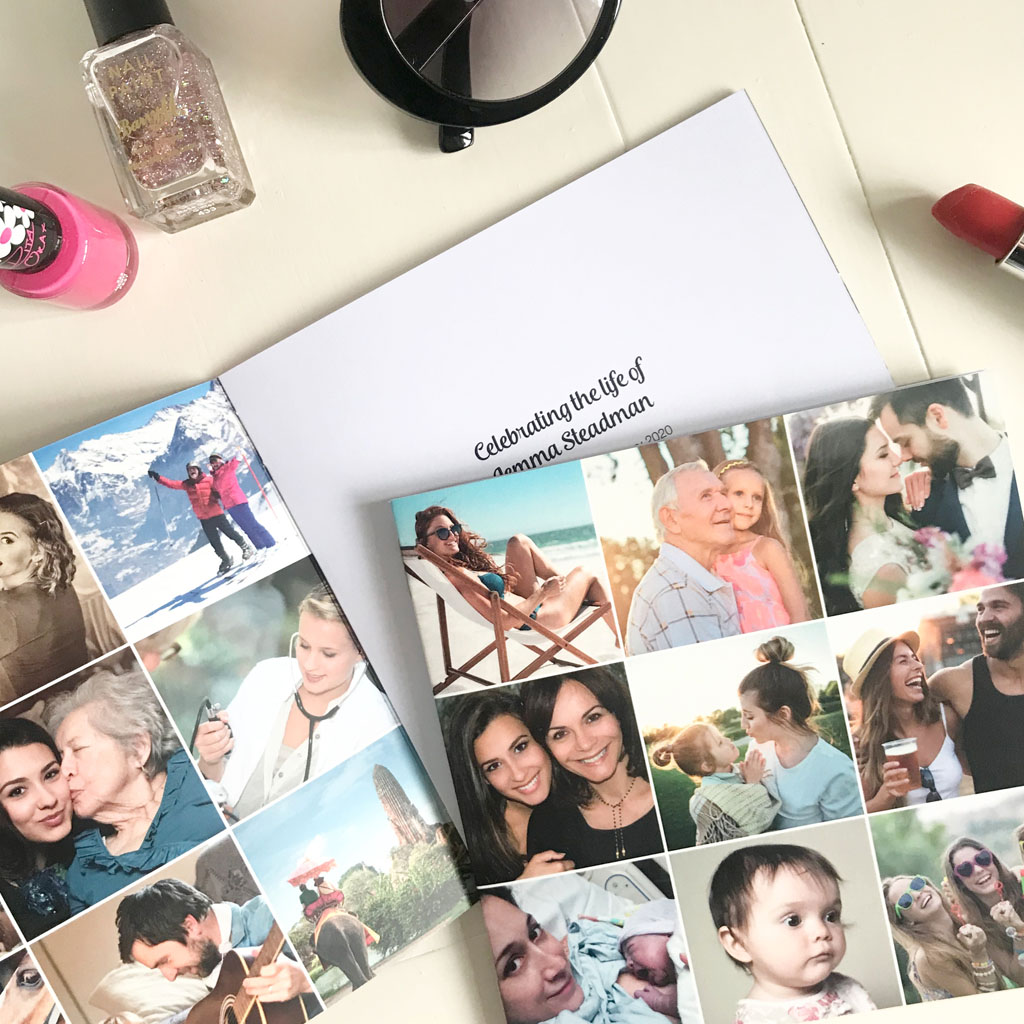 Instagram Grid style Order of Service. Instagram Squares, instagram grid, insta grid, funeral order of service, memorial booklet